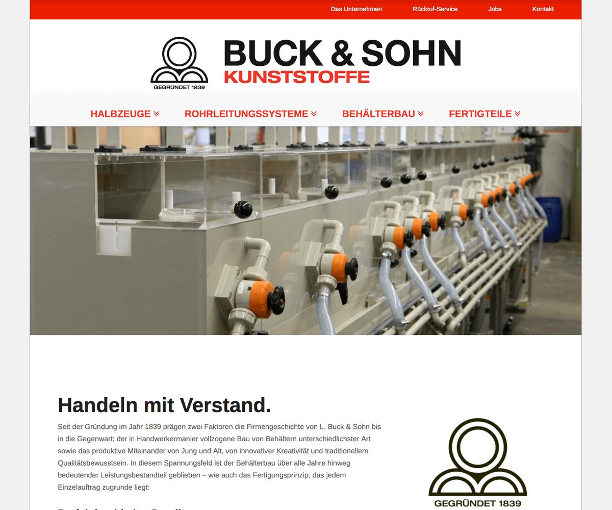 WordPress Entwicklung und Design für Buck & Sohn