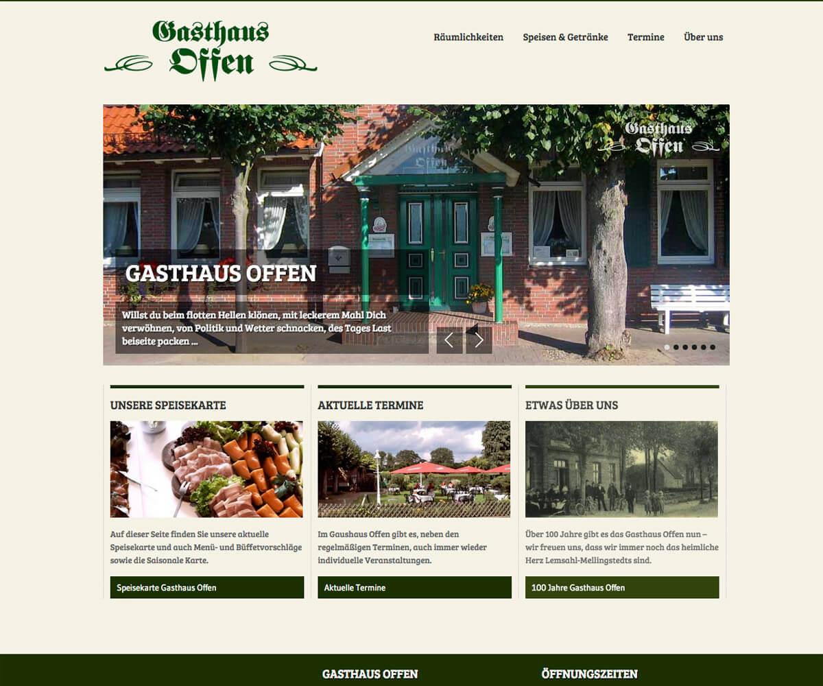 WordPress Entwicklung und Design für Gasthaus Offen