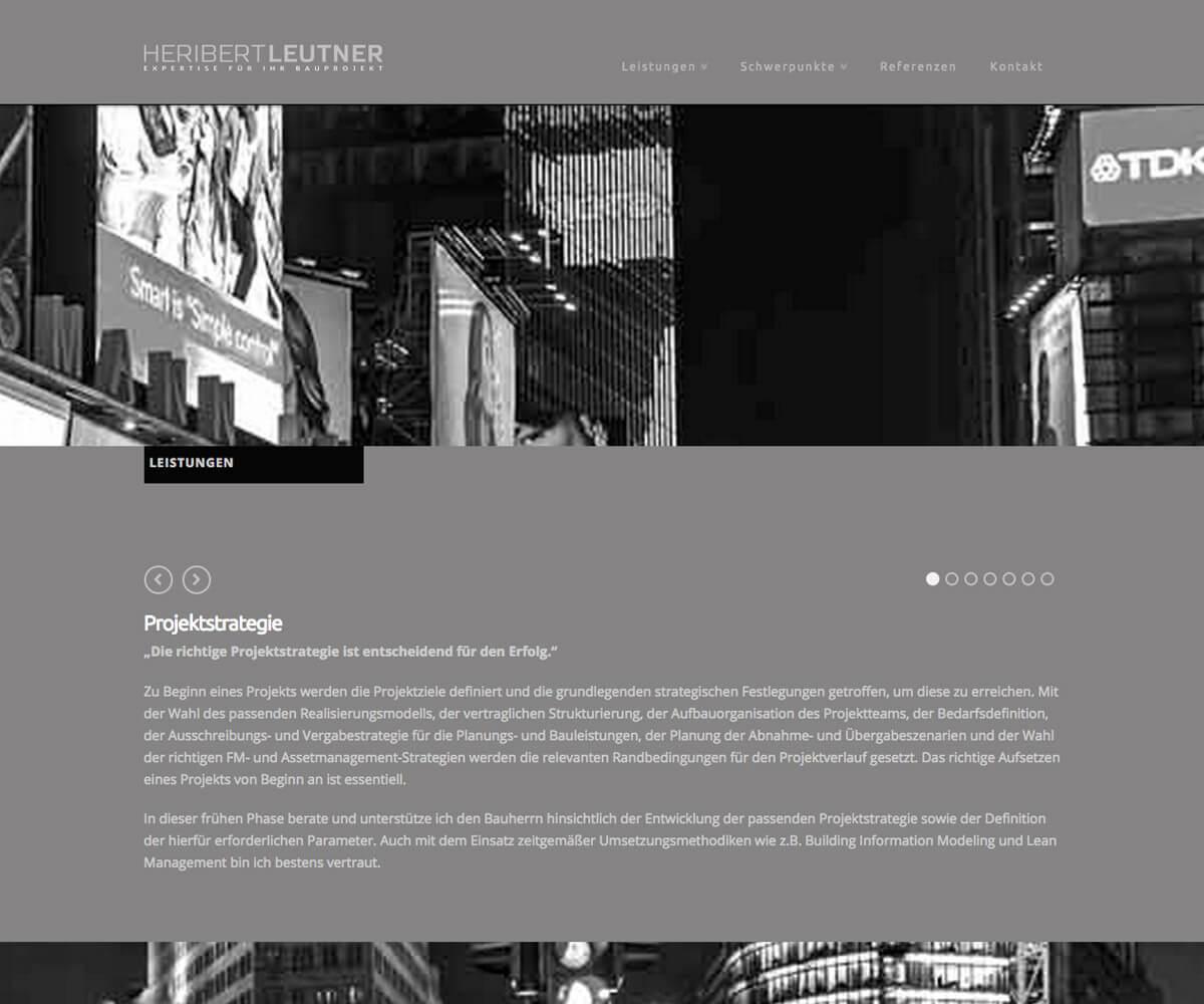 WordPress Entwicklung und Design für Heribert Leutner