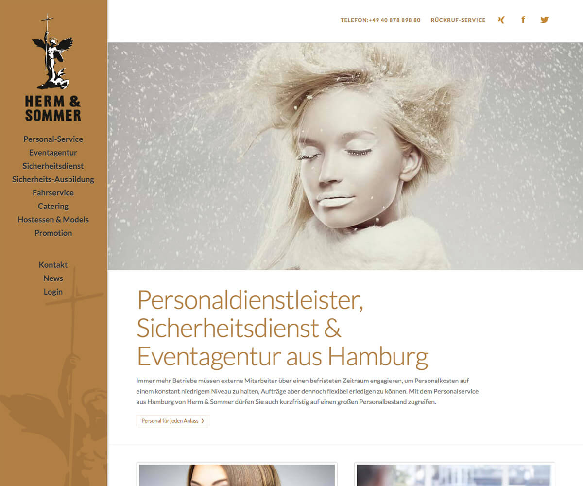 WordPress Entwicklung und Design für Herm & Sommer