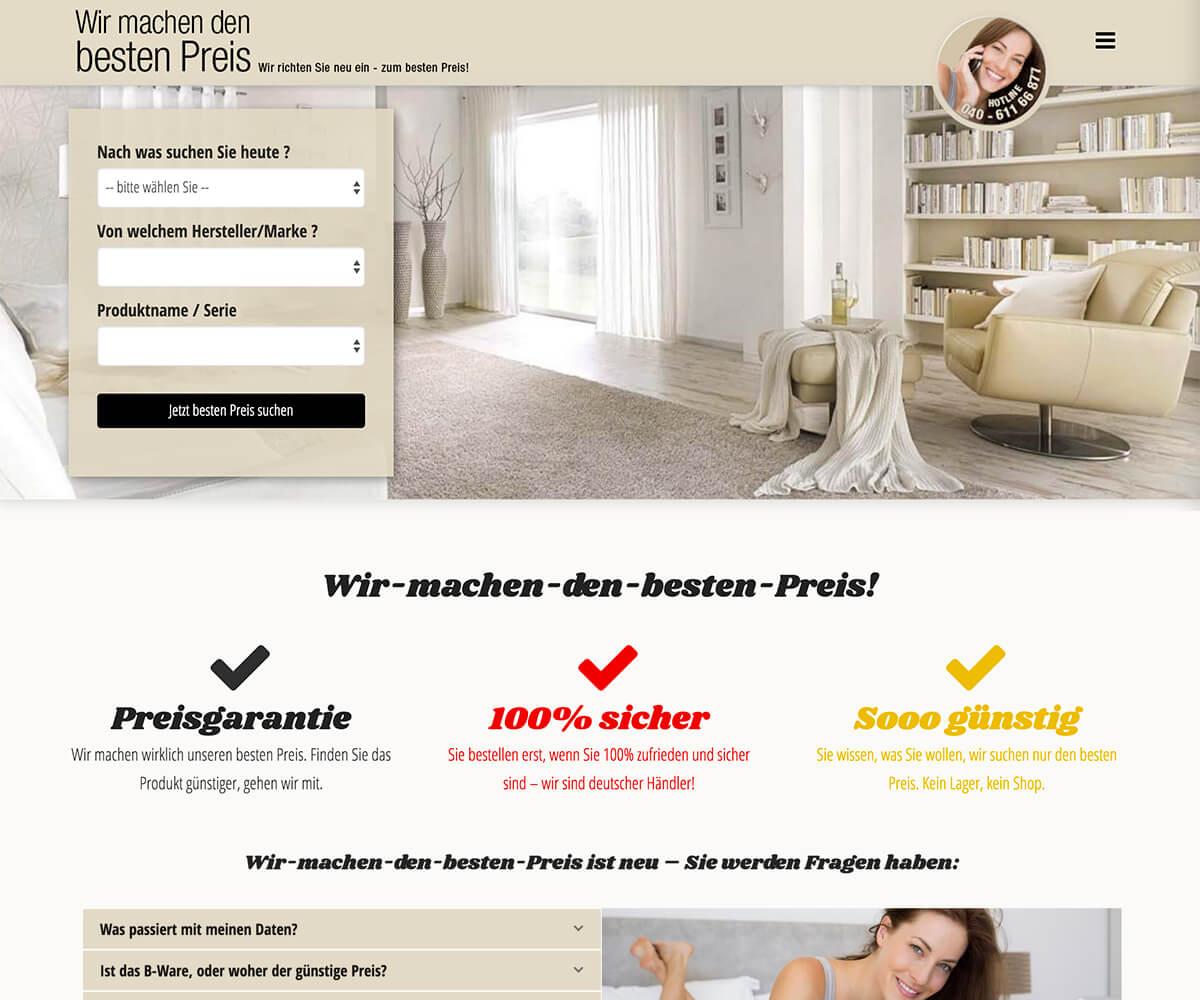 Wordpress-Entwicklung für wir-machen-den-besten-preis.de