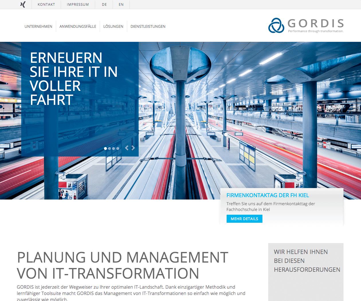 Typo3 Entwicklung und Design für Gordis