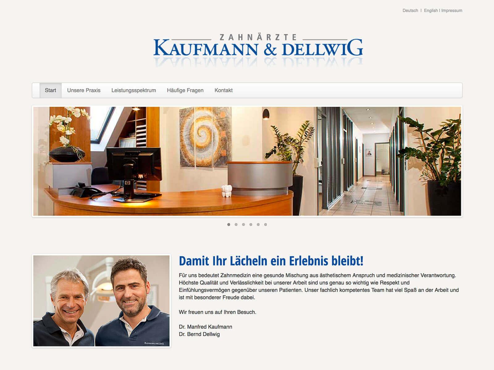 Typo3 4.5 Upgrade auf 6.2 für Praxis Kaufmann & Dellwig