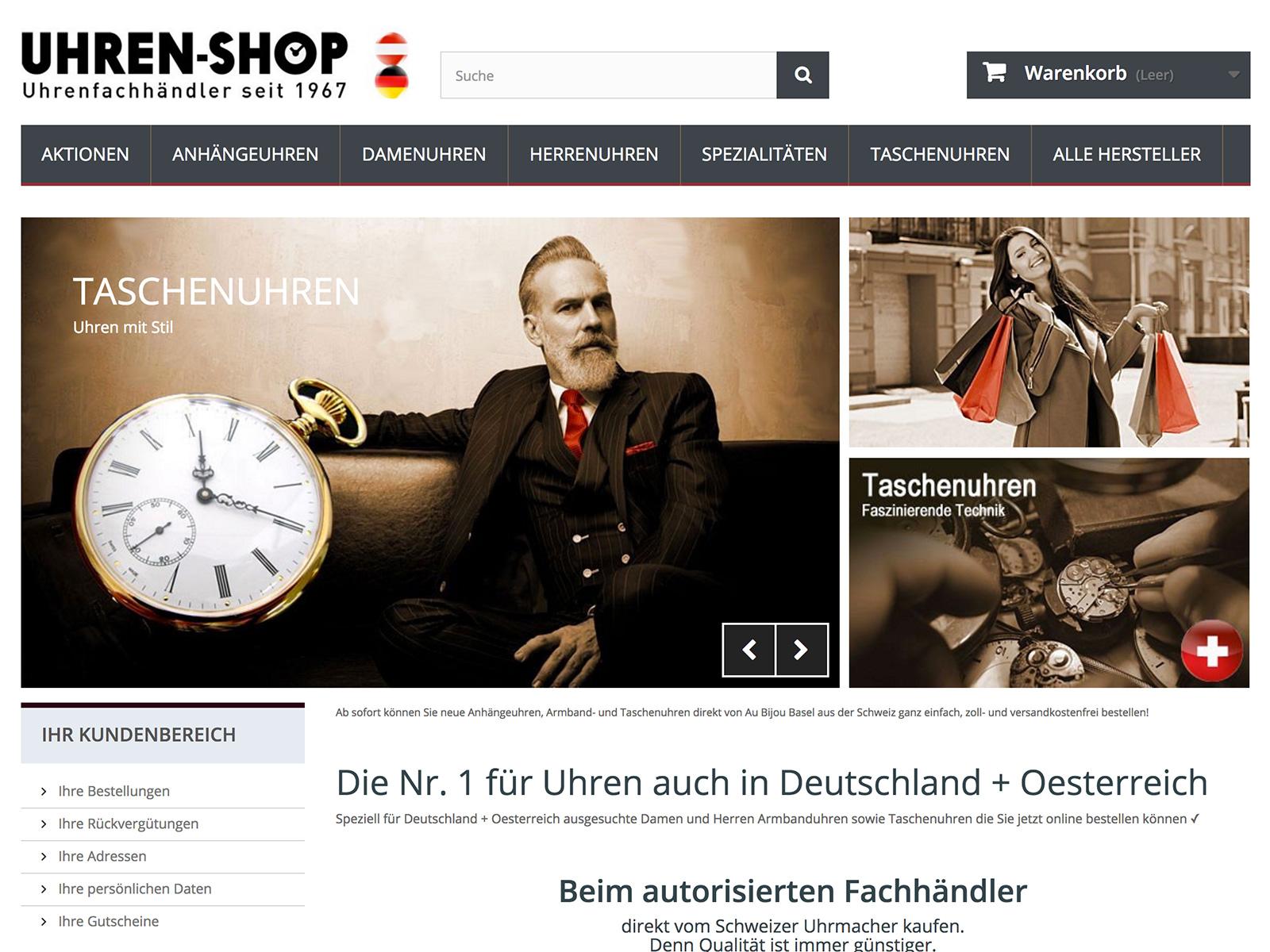 Prestashop-Entwicklung für Uhren-Shop-Deutschland.de