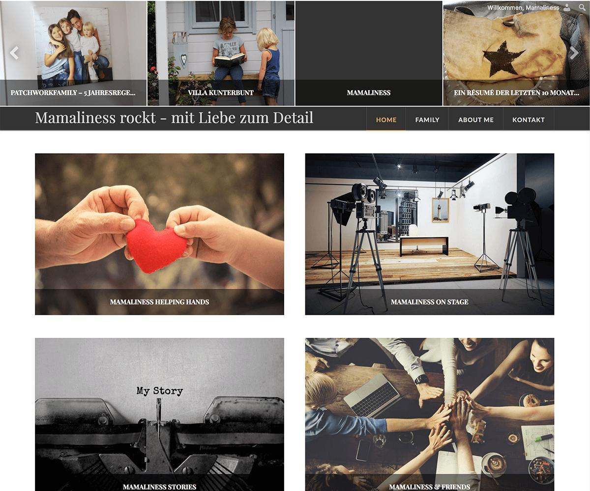 WordPress Entwicklung und Design für Mamaliness