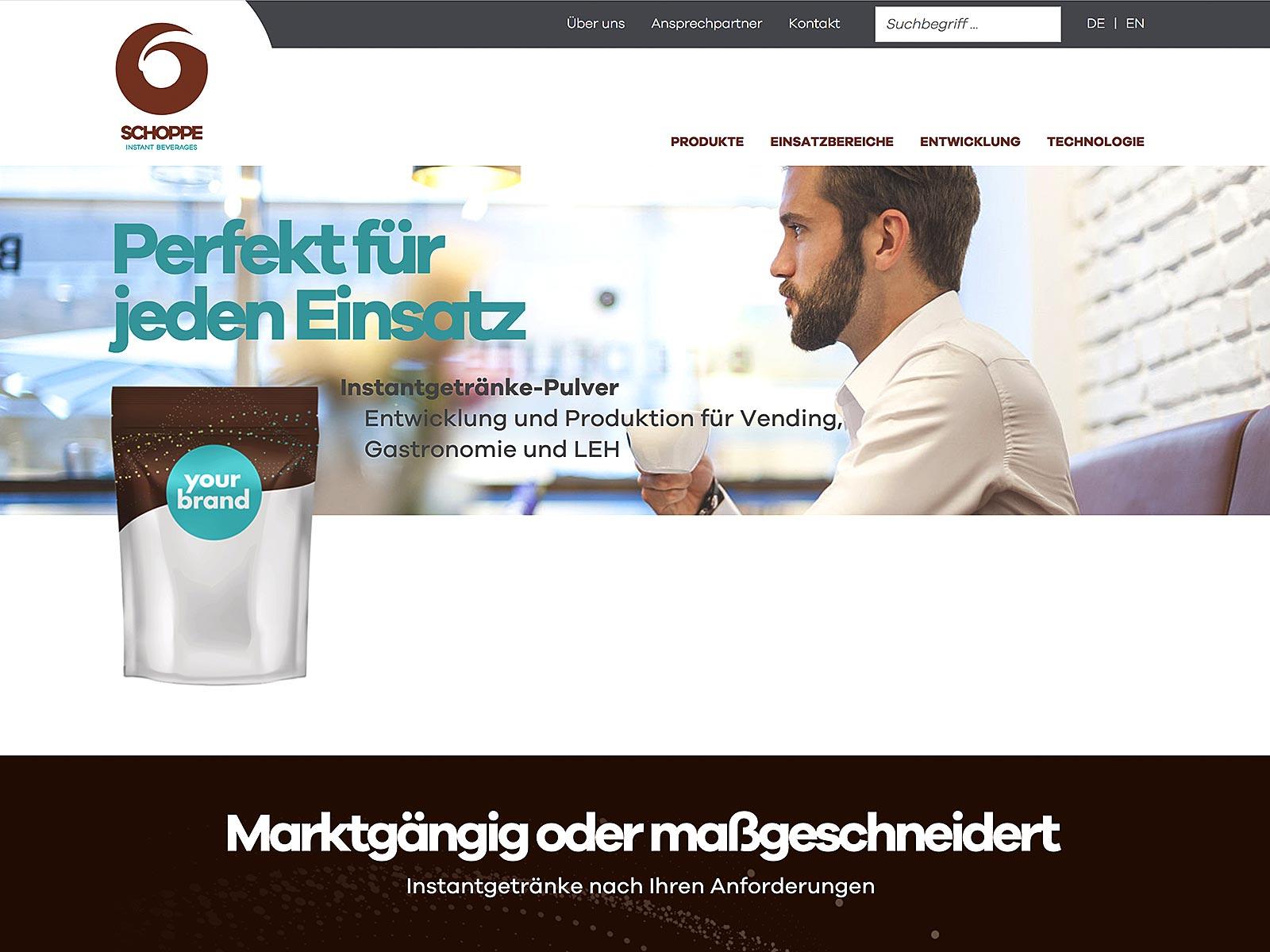 Typo3-Entwicklung für Schoppe und Schulz Instant Beverages