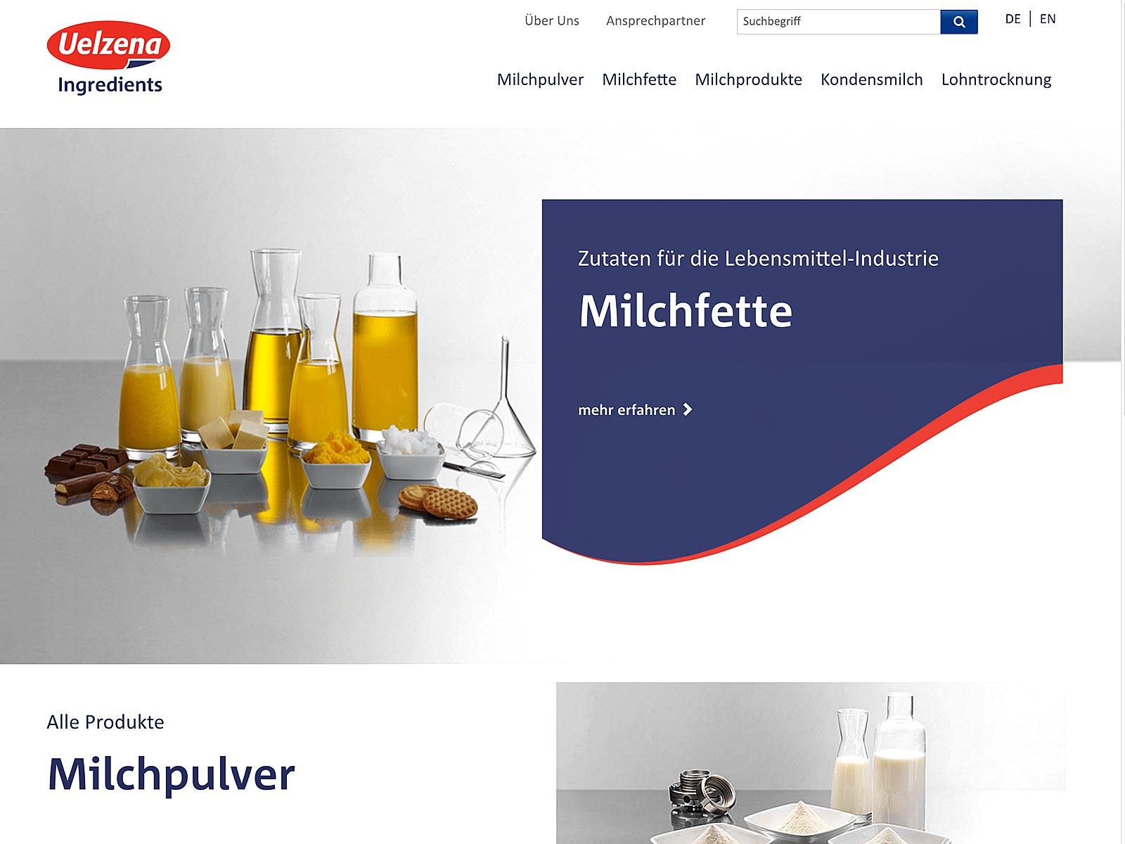Typo3-Relaunch für Uelzena Ingredients