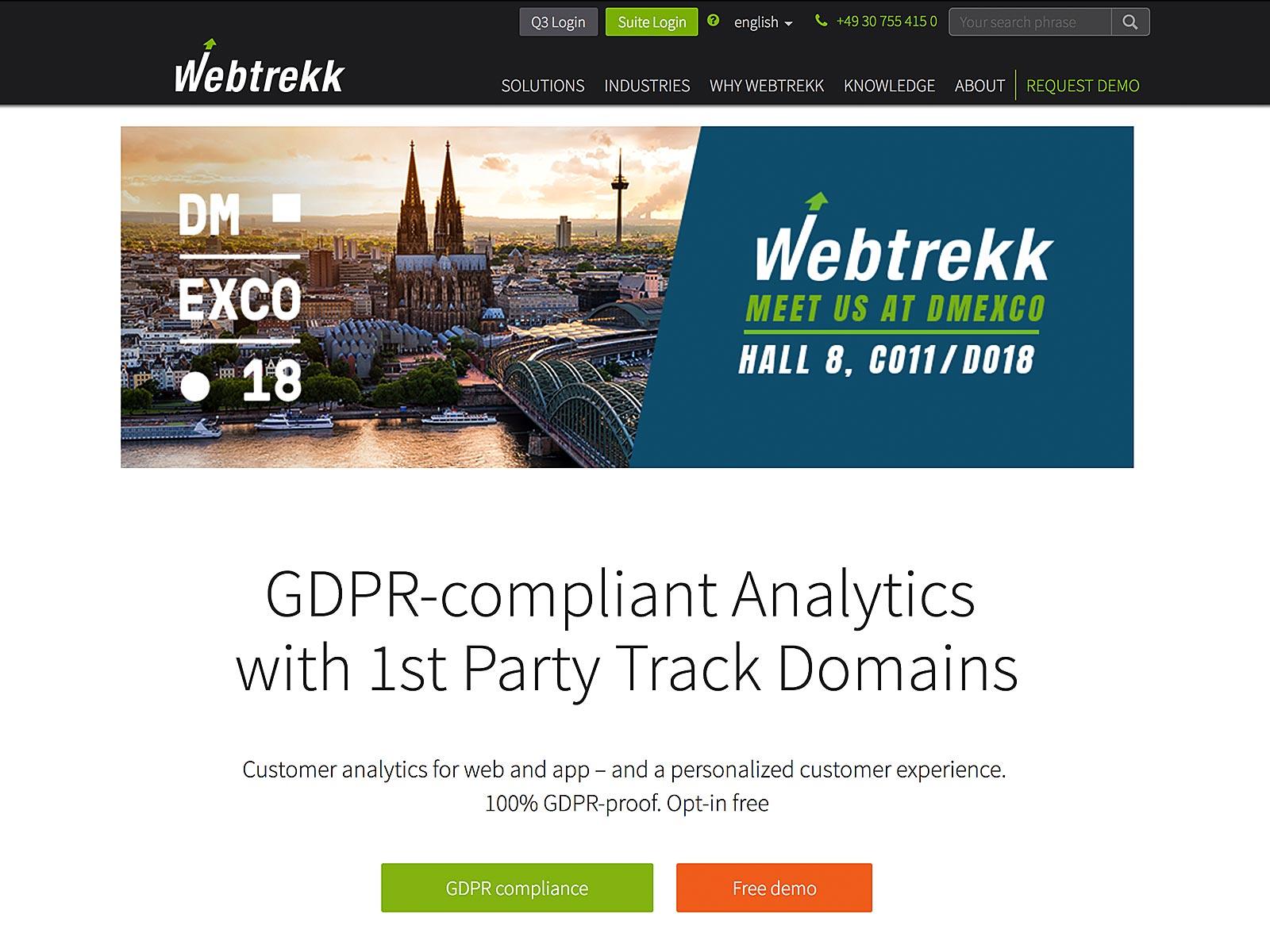 Weiterentwicklung Typo3 für Webtrekk GmbH aus Berlin