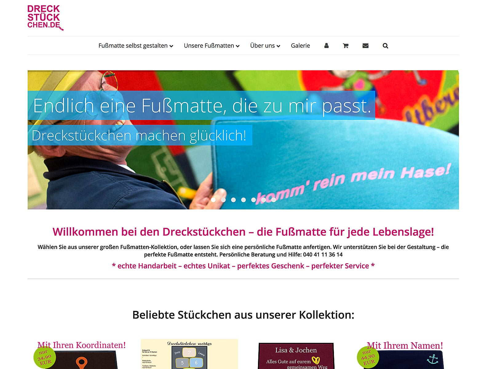 Relaunch Wordpress + Woocommerce für Dreckstückchen