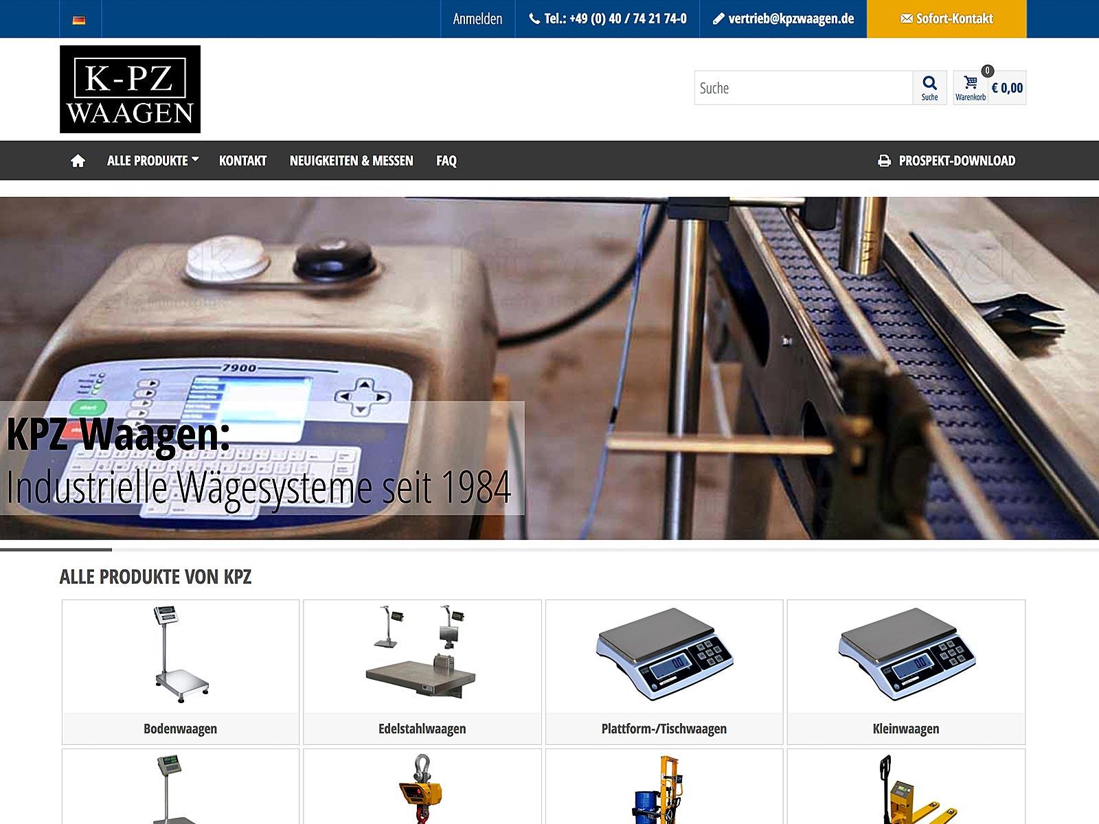 Prestashop-Entwicklung für KPZ Waagen Deutschland