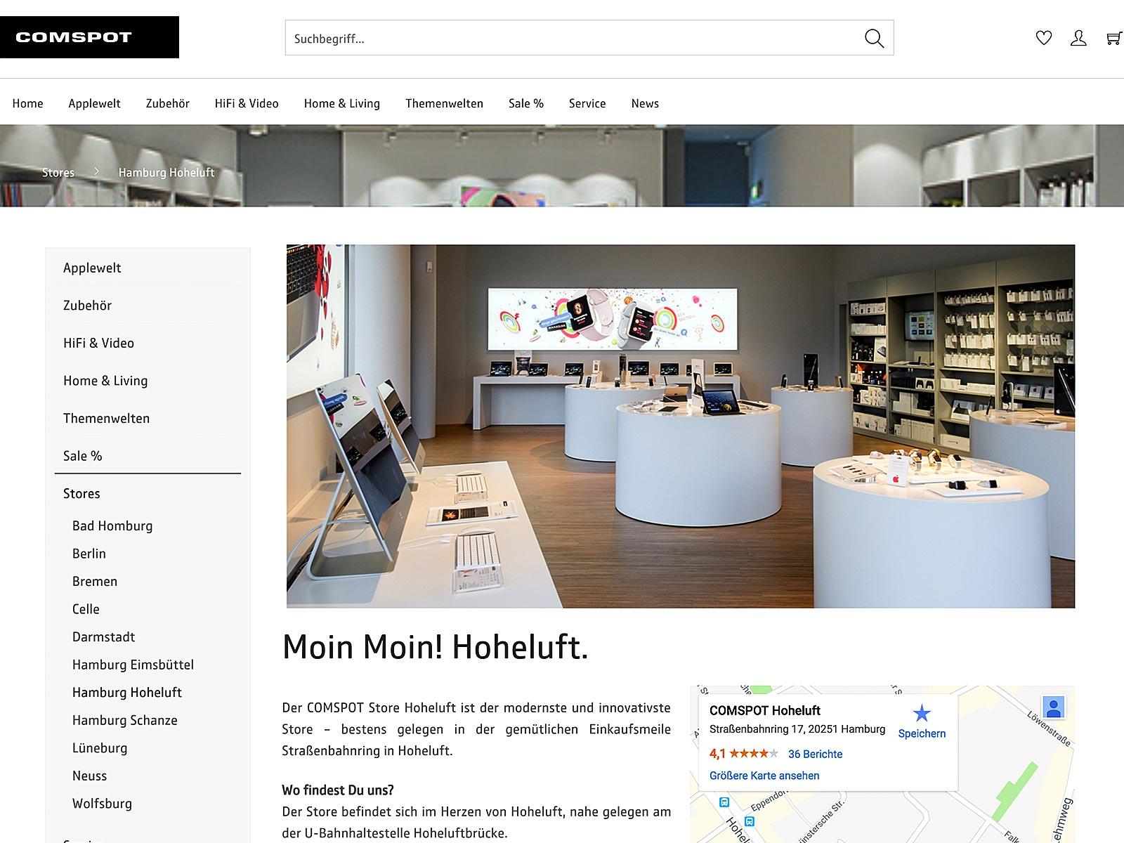 Shopware-Entwicklung und Migration für Apple Comspot bundesweit