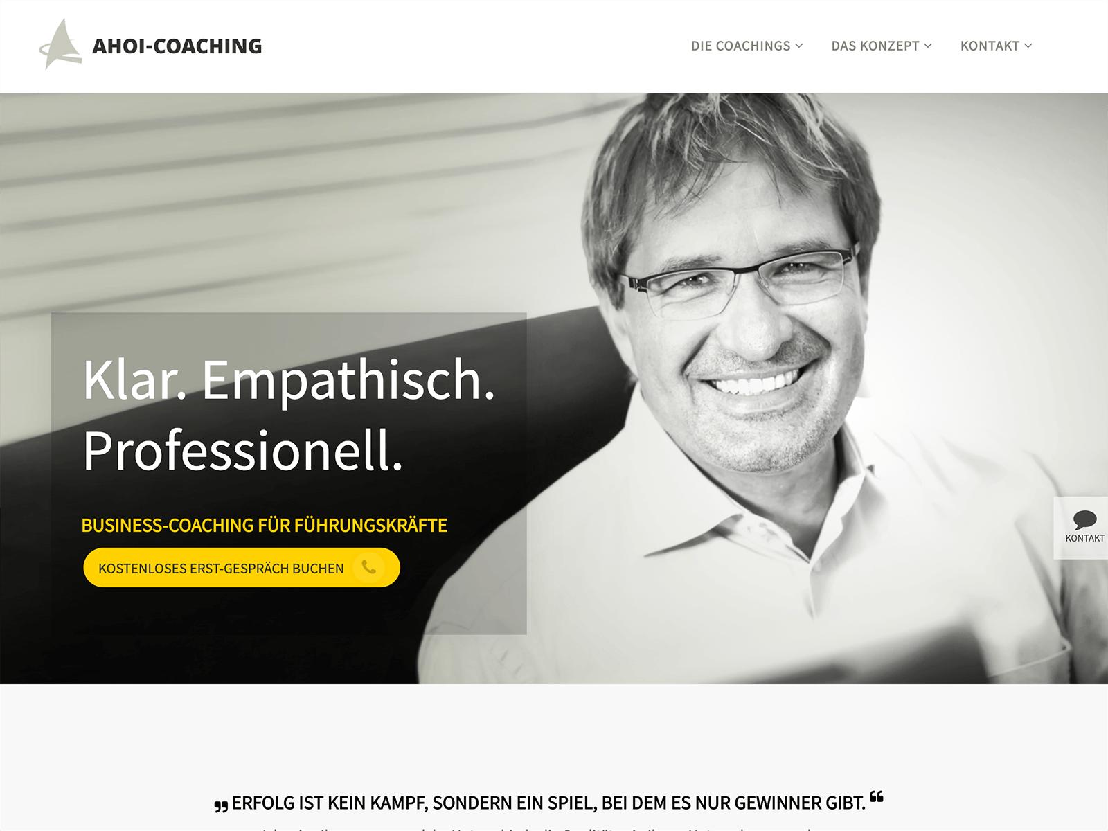 Wordpress-Entwicklung Ahoi Coaching