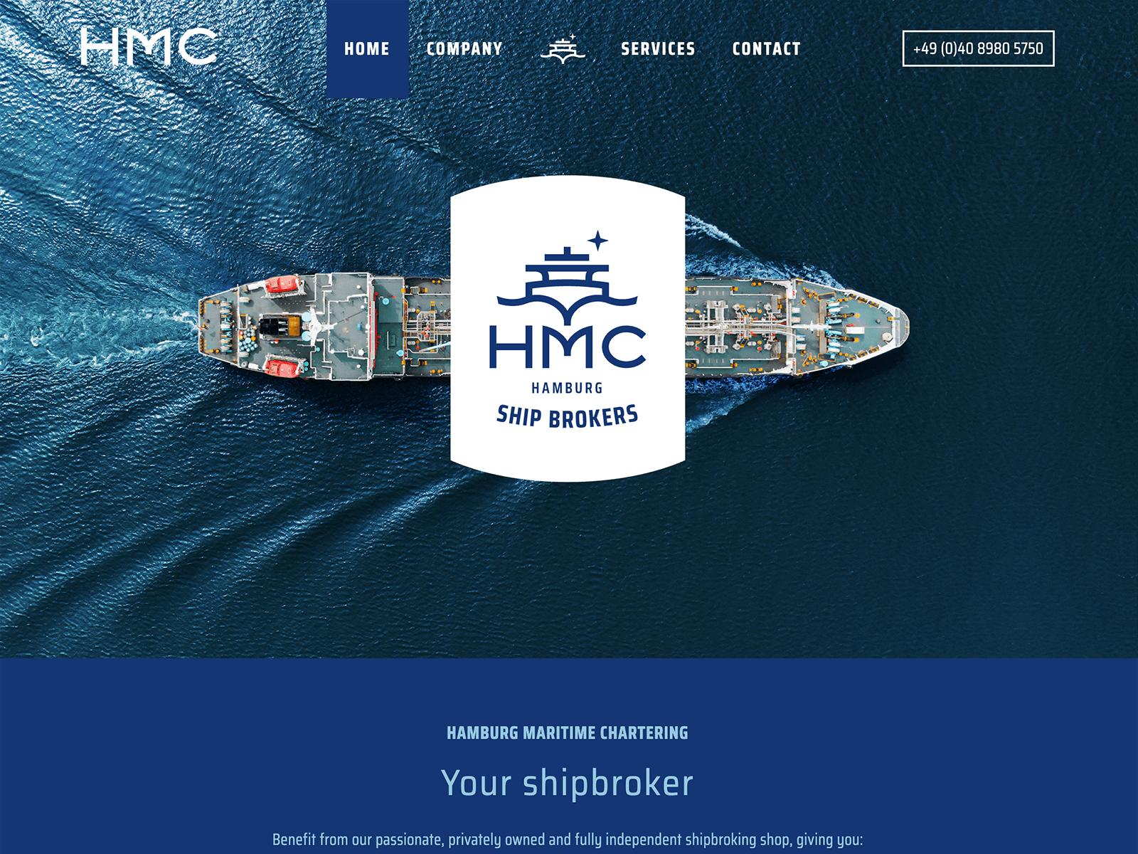 Wartungsvertrag Wordpress für HMC Shipping