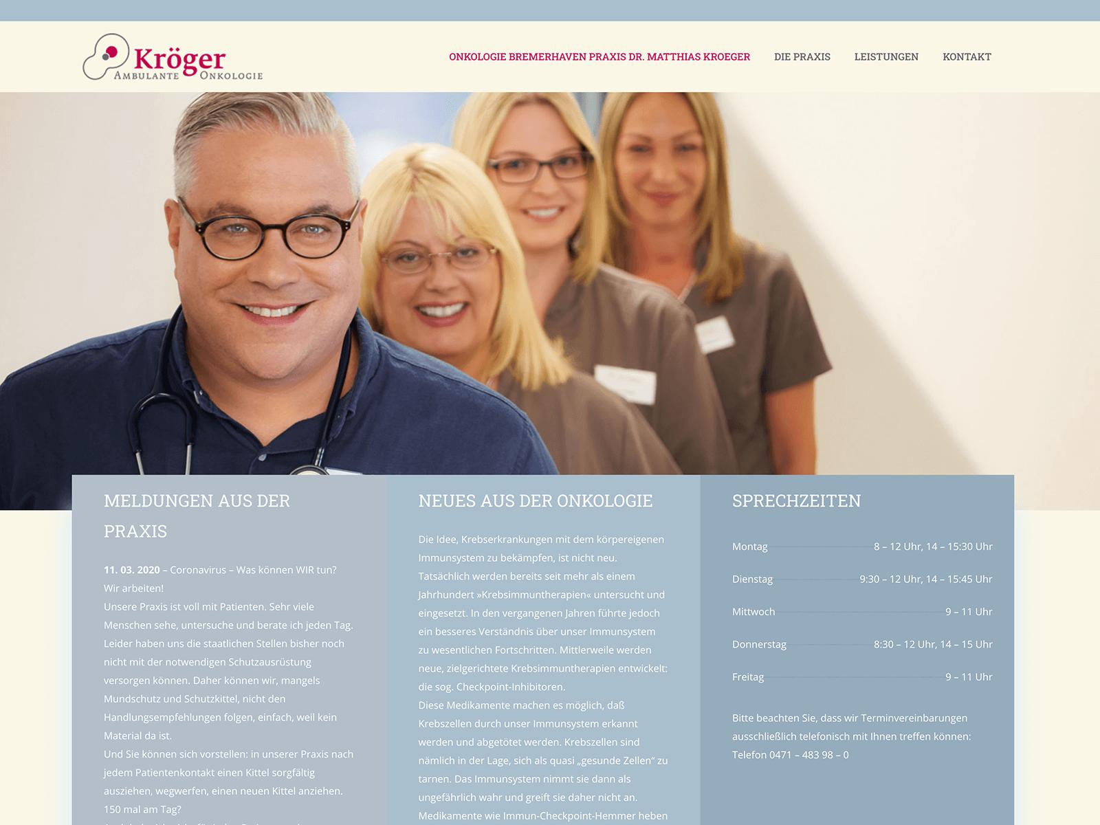 Wordpress Wartung und SEO-Optimierung Onkologie-Bremerhaven