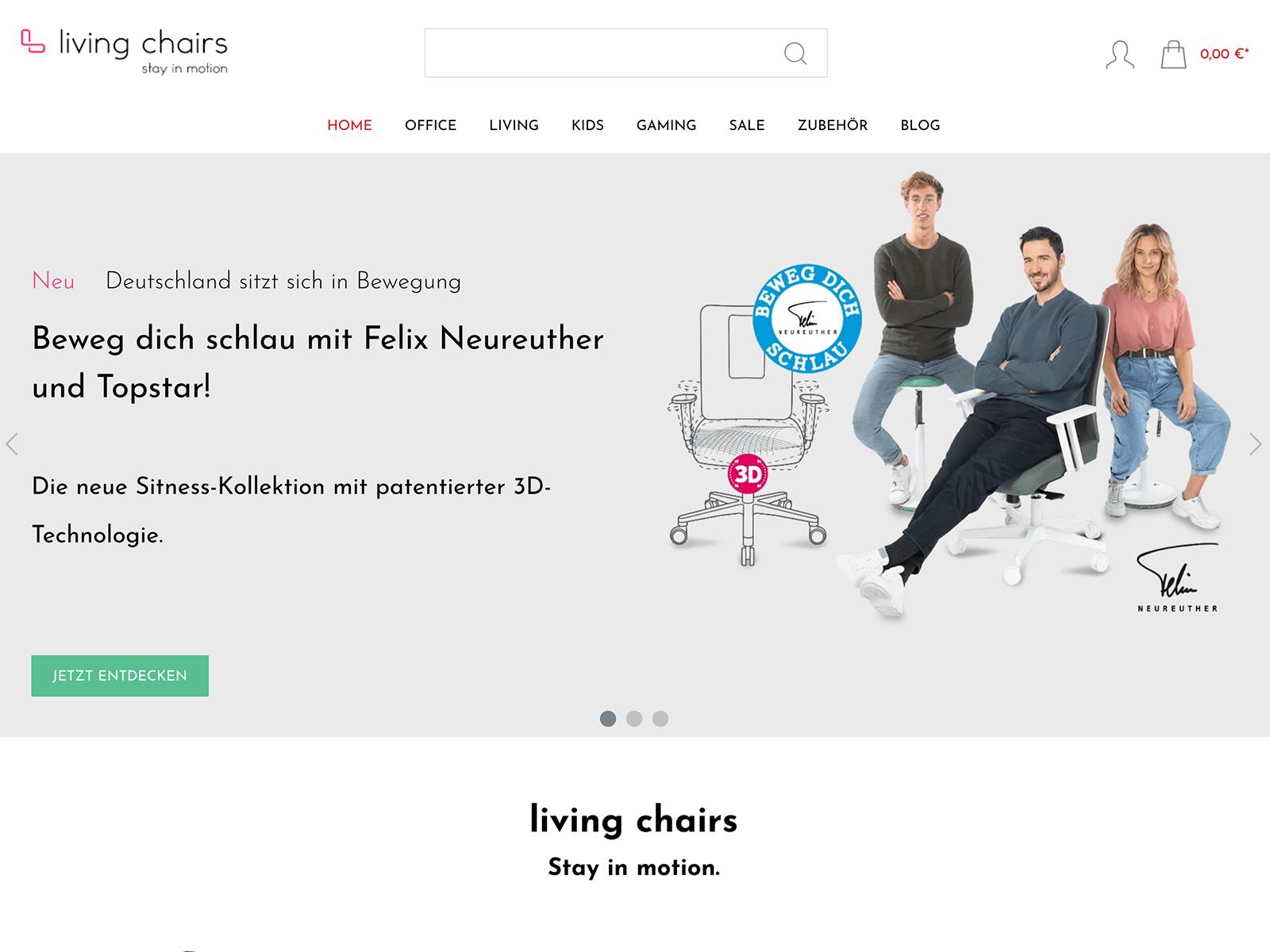 Magento 2 Shopentwickung für Chairmarkt AG