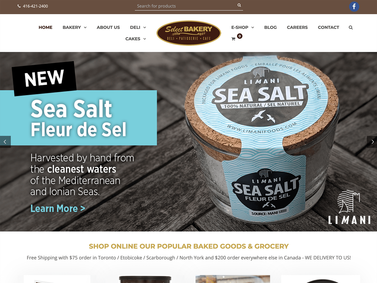 SEO + SEA Strategie für Greek Food Shop (Canada)