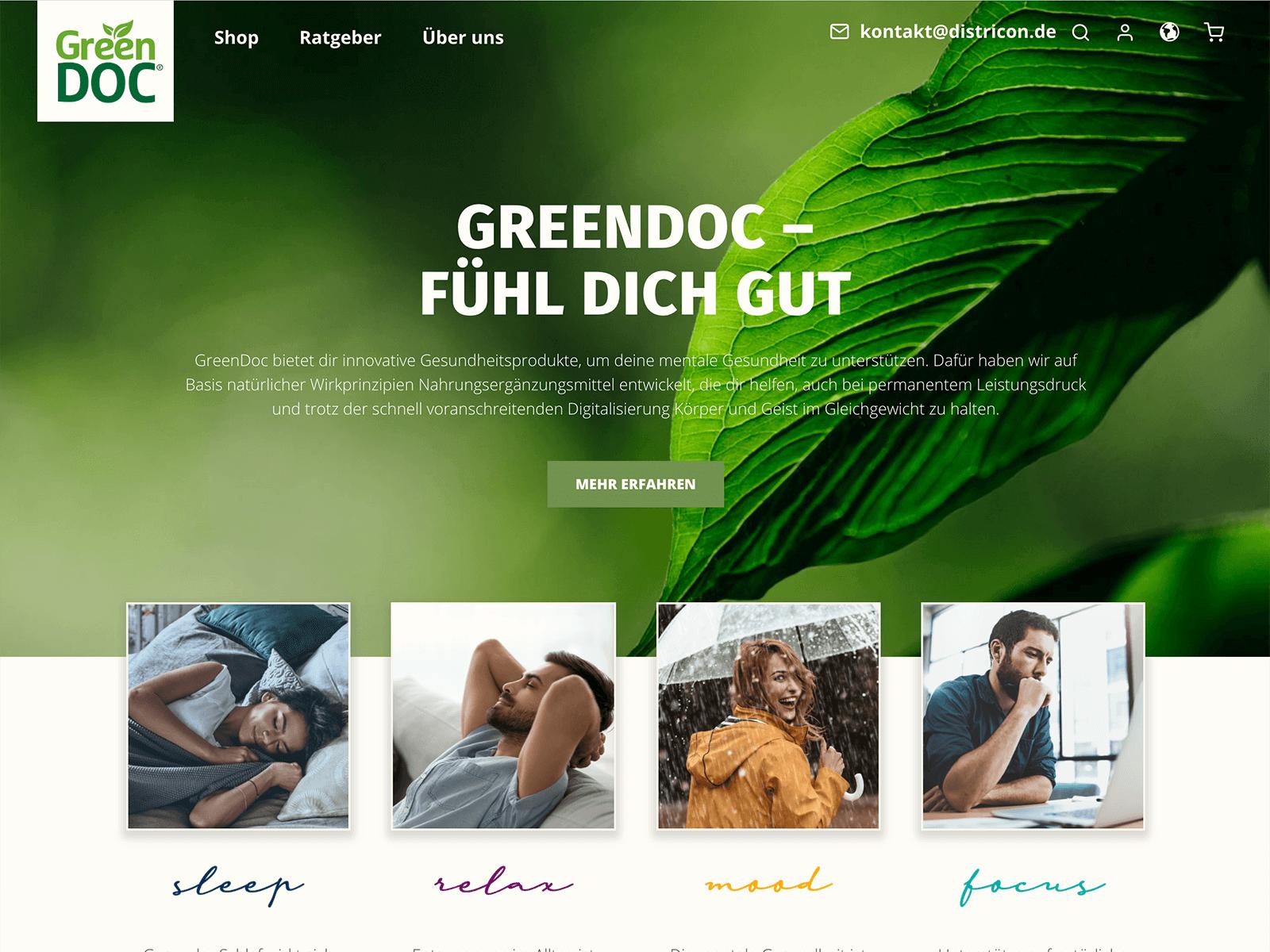 Shopware 5 Shopentwicklung Greendoc / Districon