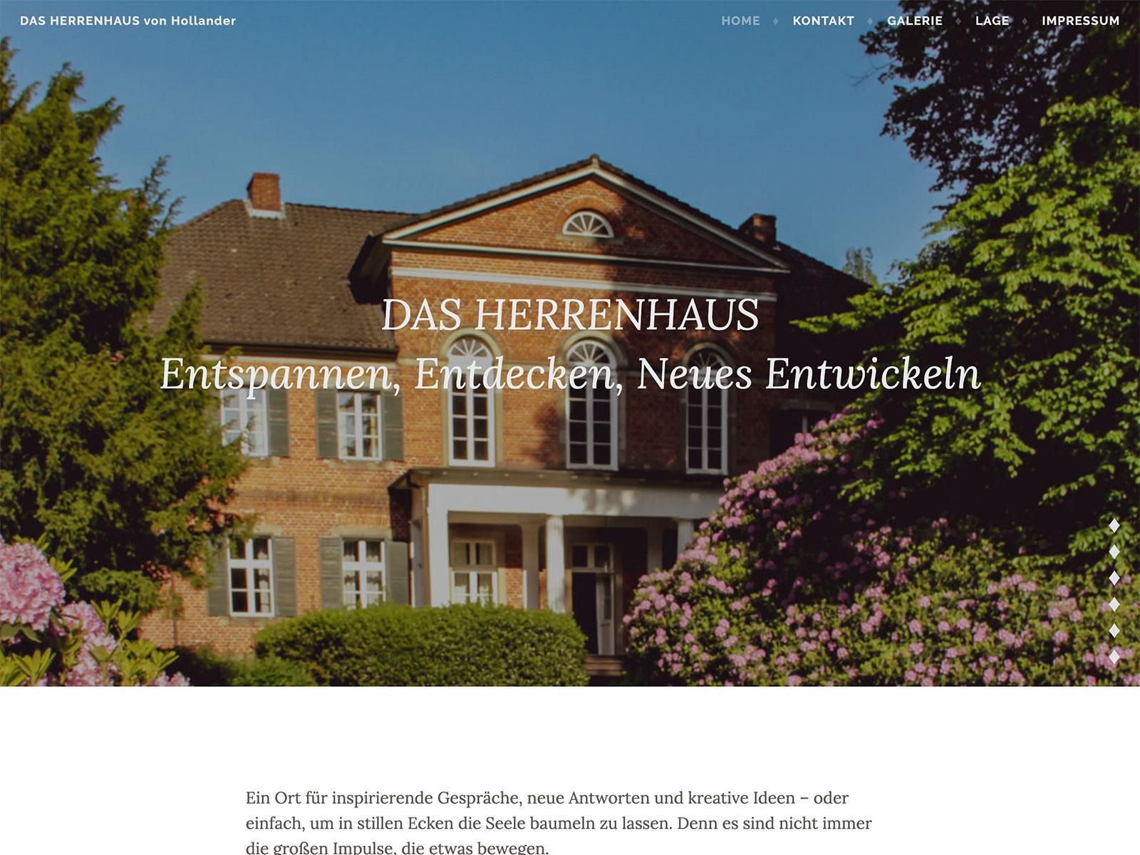 Redaktion für das Herrenhaus von Hollander