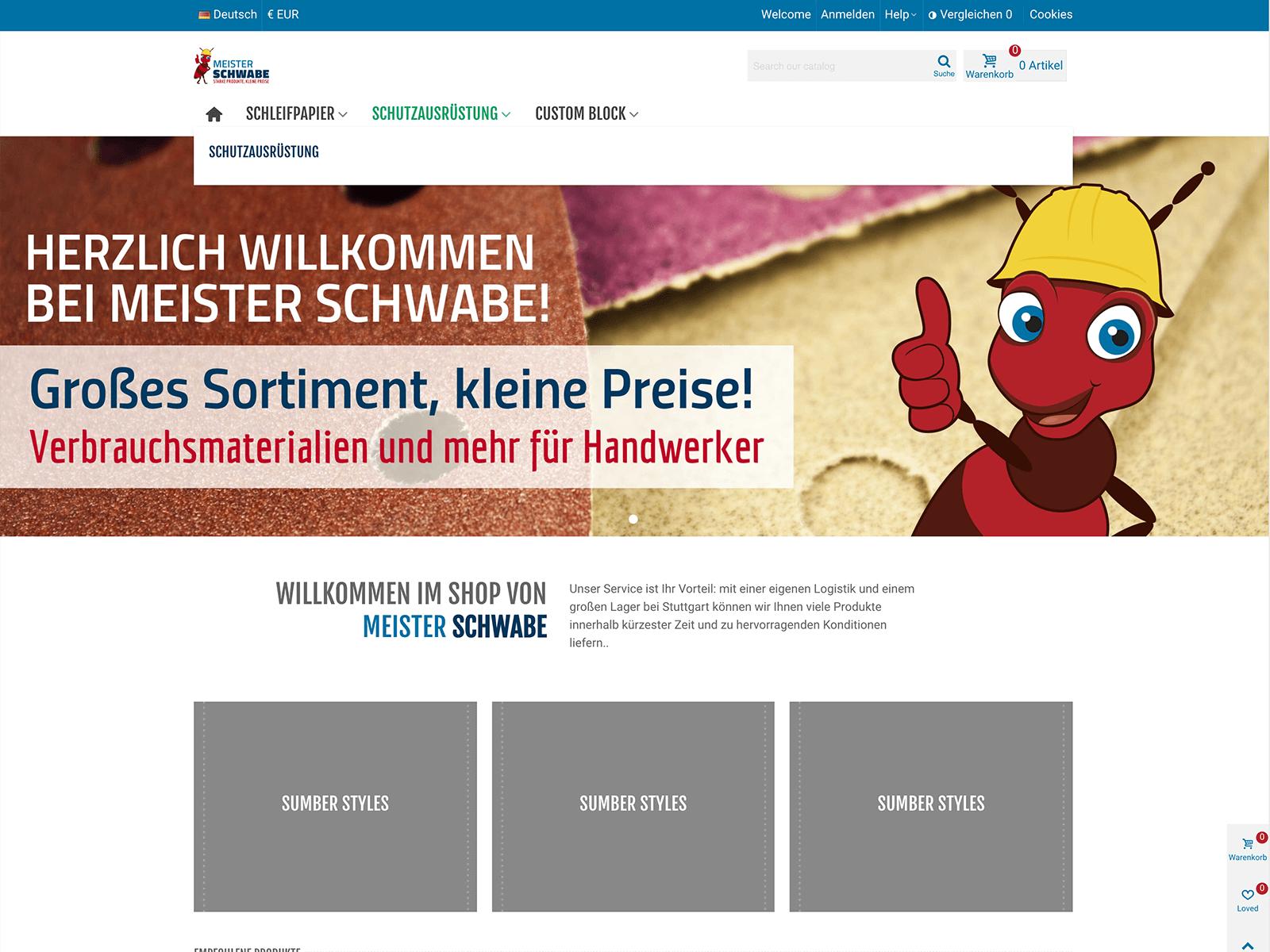 Webdesign und Prestashop-Entwicklung Meister-Schwabe